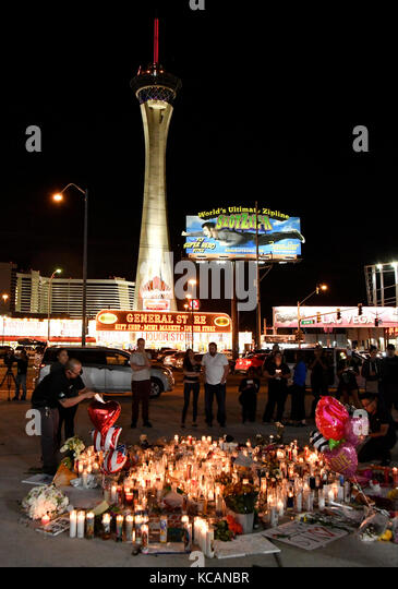 Las Vegas, USA. 3rd Oct, 2017. The shooting happen during day 3 of the Route 91 Harvest Festival. 3rd Oct, 2017. - Stock Image