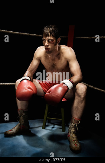 Boxing Man In Red Room
