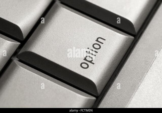 option key on laptop computer - Stock Image