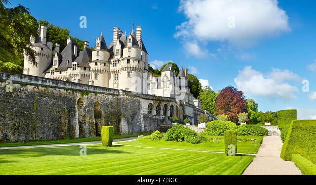 Usse Castle, Usse, Loire Valley, France - Stock-Bilder