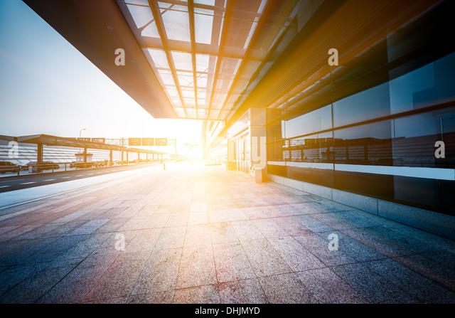 empty entrance of airport - Stock-Bilder