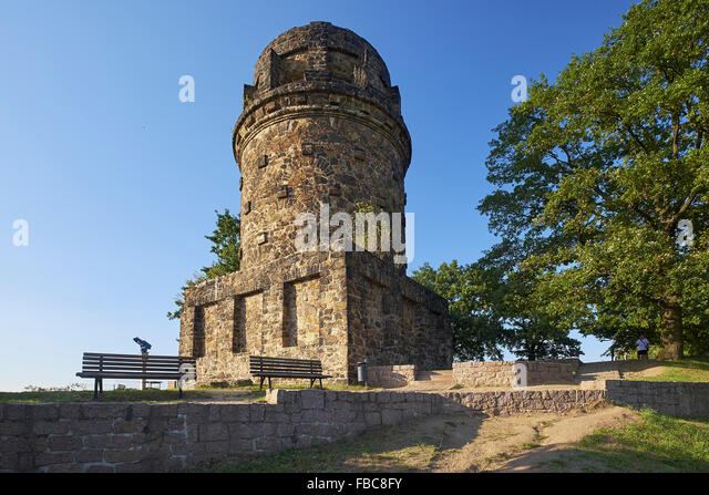 Bismarck Tower in Radebeul, Saxony, Germany - Stock Image