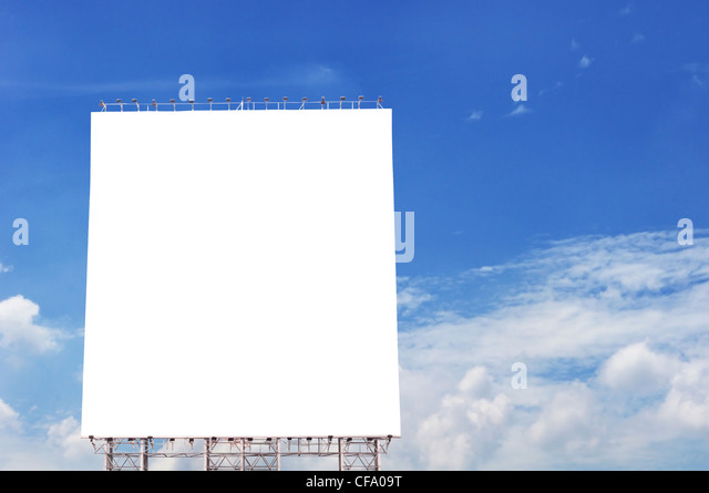 empty billboard with blue sky backgrounds. - Stock-Bilder