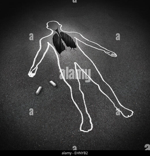 Lung disease medical concept and human anatomy respiratory illness symbol as a chalk drawing of a person with a - Stock Image