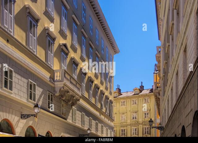 Triest Architektur Detail - Trieste architecture detail 01 - Stock-Bilder