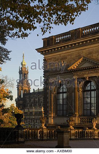DEU Dresden Saxony Zwinger Court Church Hofkirche - Stock Image