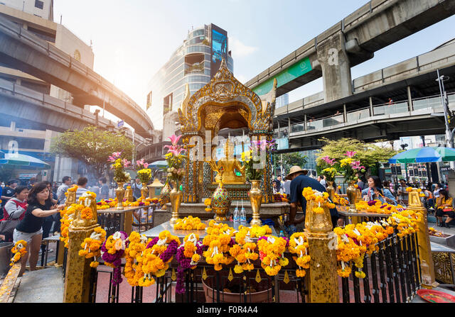 Thailand, Bangkok, erawan temple - Stock Image