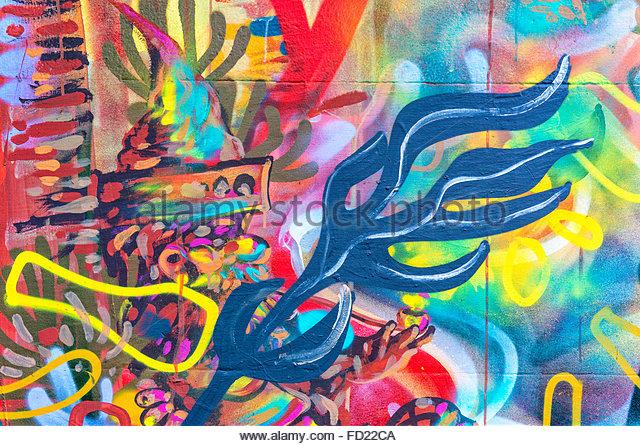 Urban Graffitis, Bellavista neighbourhood, Santiago, Chile - Stock-Bilder