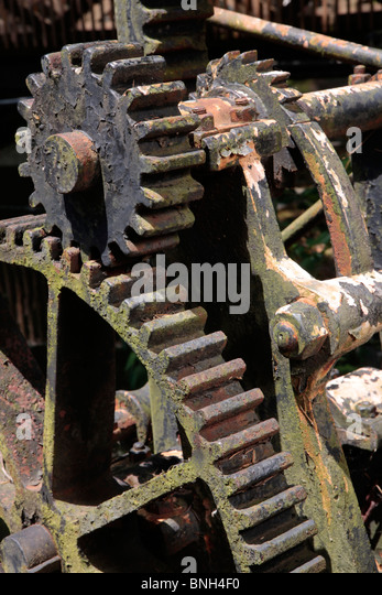 Spillway gears at Hagley Museum along Brandywine River - Stock Image