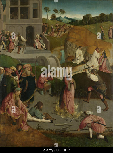 The Martyrdom of Saint Lucy, Master of the Figdor Deposition, c. 1505 - c. 1510 - Stock Image