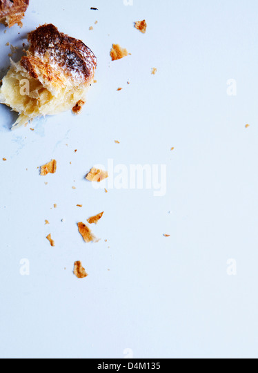 Close up of crumbled pastry - Stock Image