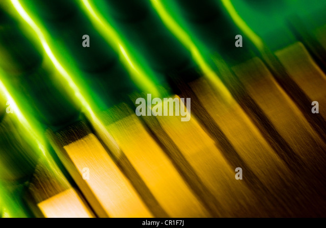 Electronic contacts, abstract image taken with a high magnification macro lens. - Stock Image