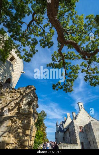 Chaueau Chinon, France. - Stock Image