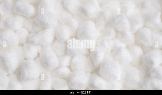 Cotton wool balls, as used for removing makeup - Stock Image