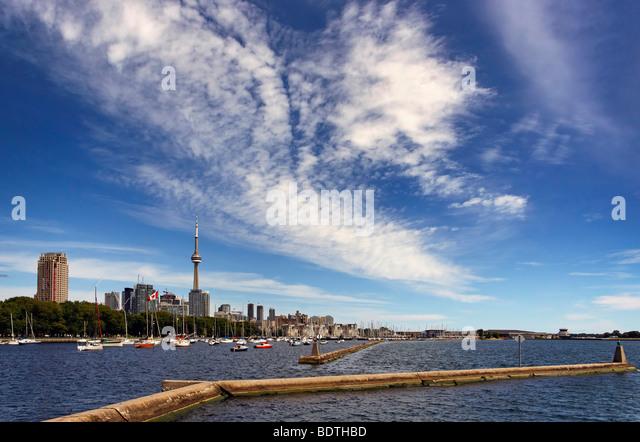 Toronto from Ontario Place - Stock Image
