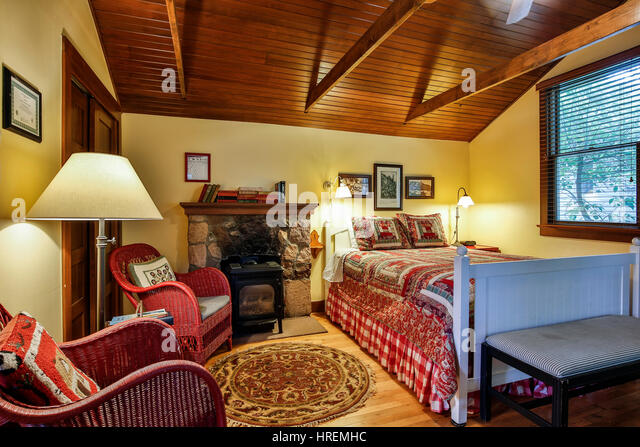 Interior, Honeymoon Suite, Chautauqua Park, Boulder, Colorado USA - Stock Image