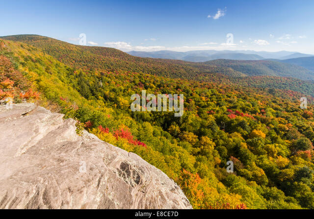 Panther Mountain and Woodland Valley seen from Giant Ledge in the Catskills Mountains of  upstate New York - Stock Image