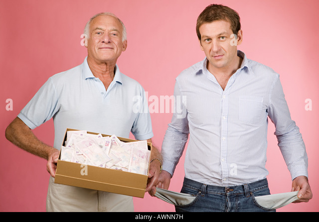Rich and poor men - Stock Image