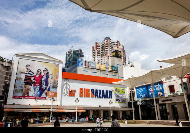 Mumbai India Asian Lower Parel High Street Phoenix mall shopping Big Bazaar Aldo - Stock Image