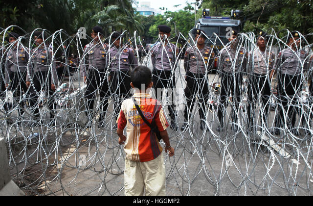 Jakarta, Indoensia. 10th Jan, 2017. Outside the department of agriculture ragunan, Jakarta, which enlivened the - Stock Image