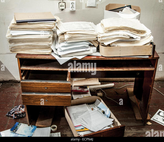 Messy Office: Dirty Workplace Stock Photos & Dirty Workplace Stock