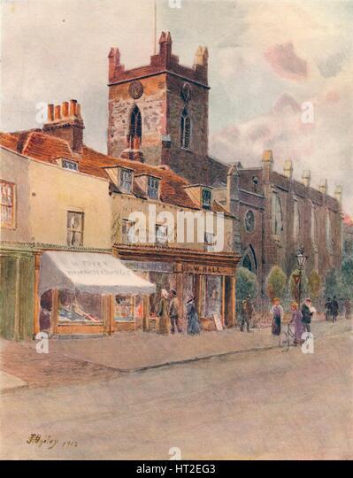 'Chertsey Church', 1912, (1914). Artist: James S Ogilvy. - Stock Image
