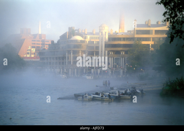 Georgetown Harbour in Washington D.C. - Stock Image