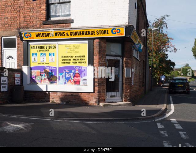 A corner shop, news agent, in Holbrook, Derbyshire, United Kingdom, UK. - Stock Image