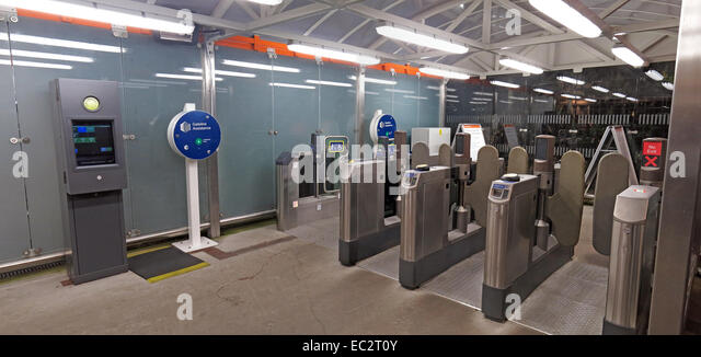 Wide shot of Olympia Tube Station, London - Stock Image