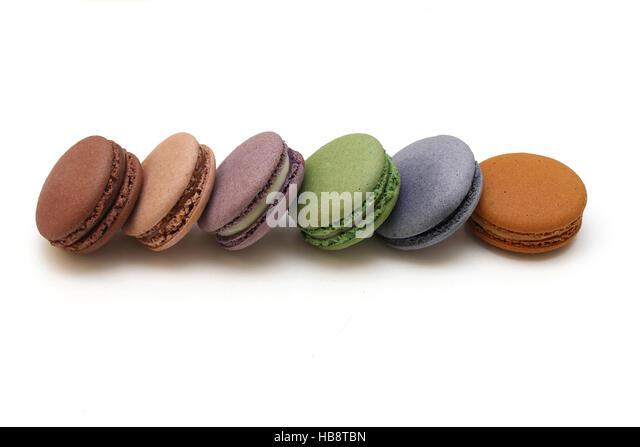 Tasty macaroons - Stock Image