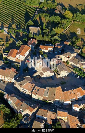 France, Ardeche, Lachapelle sous Aubenas (aerial view) - Stock Image