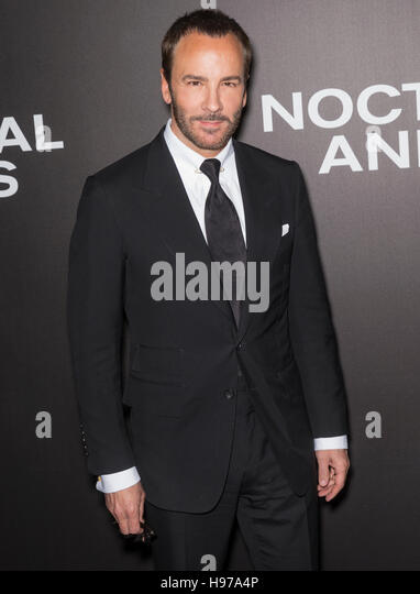 New York City, USA - November 17, 2016: Writer-director Tom Ford attends the 'Nocturnal Animals' New York - Stock-Bilder