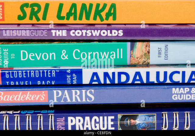 Travel books - Stock-Bilder