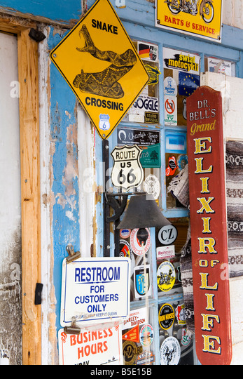 General Store and Route 66 Museum, Hackberry, Arizona, USA, North America - Stock Image