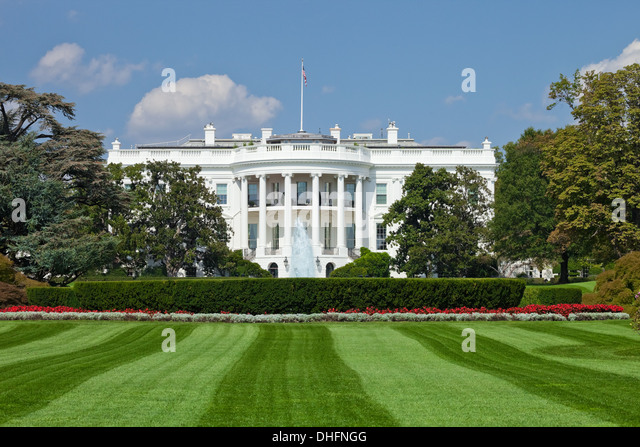 The White House in Washington D.C., the South Gate - Stock Image