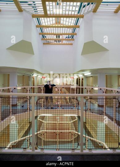 Atrium interior at Belmarsh Prison Woolwich - Stock Image