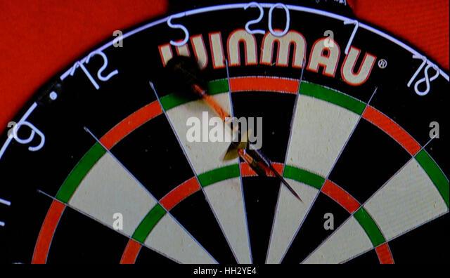 Surrey, UK. 15th January 2017. BDO Lakeside  World Professional Darts Mens Final Glen Durrant ENG v Danny Noppert - Stock Image