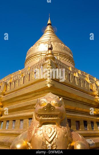Shwezigon Paya, Nyaung U, Bagan, Myanmar (Burma) - Stock-Bilder