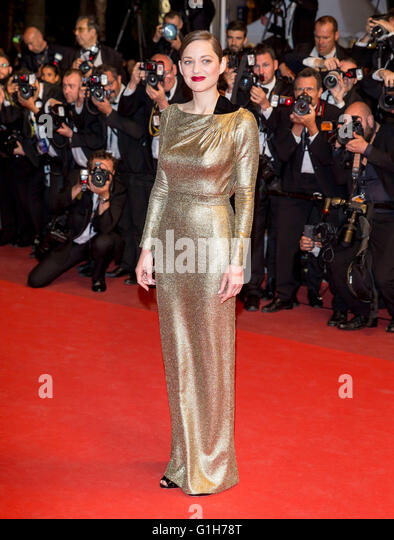 Cannes, France. 15th May, 2016. Marion Cotillard Actress Mal D Epierres. Premiere 69 Th Cannes Film Festival Cannes, - Stock Image