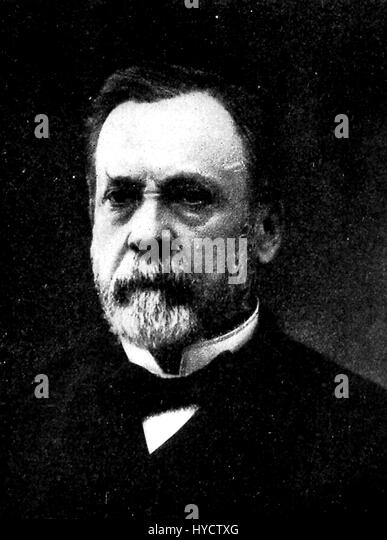 Portrait of scientist Louis Pasteur, shoulders up, with a beard and neutral facial expression, France, 1911. - Stock Image