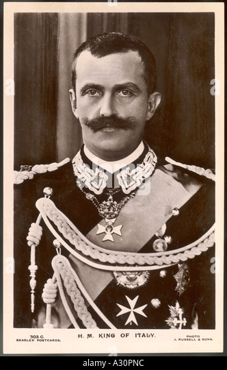 Vittorio Emanuele Iii - Stock Image