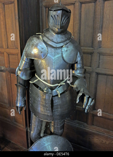 English Knights suite of armour - Stock Image