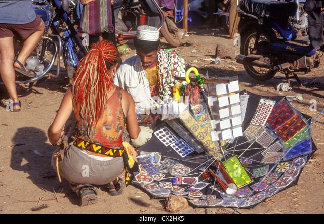 Hippie Flea Market , Anjuna Beach , North Goa, India - Stock-Bilder
