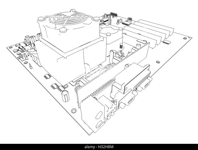 motherboard black and white stock photos  u0026 images