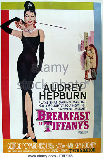 Breakfast at Tiffany's (movie poster). Artist: Anonymous - Stock Image