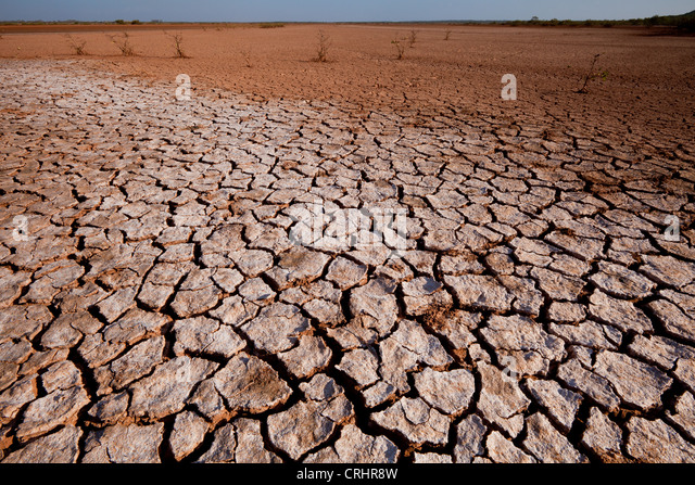 Cracked soil in Sarigua national park (desert), in the Herrera province, Republic of Panama. - Stock Image