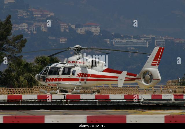 Monaco Heliport - Stock Image