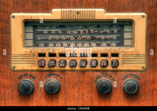 Antique radio dial - Stock Image