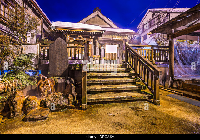 Nagano, Japan at the hot spring bath houses of Shibu Onsen resort town. - Stock-Bilder