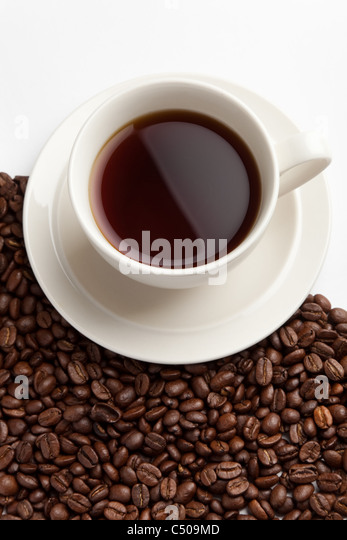 Coffee Bean and cup for background - Stock-Bilder